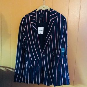 Striped Forever 21 Blazer